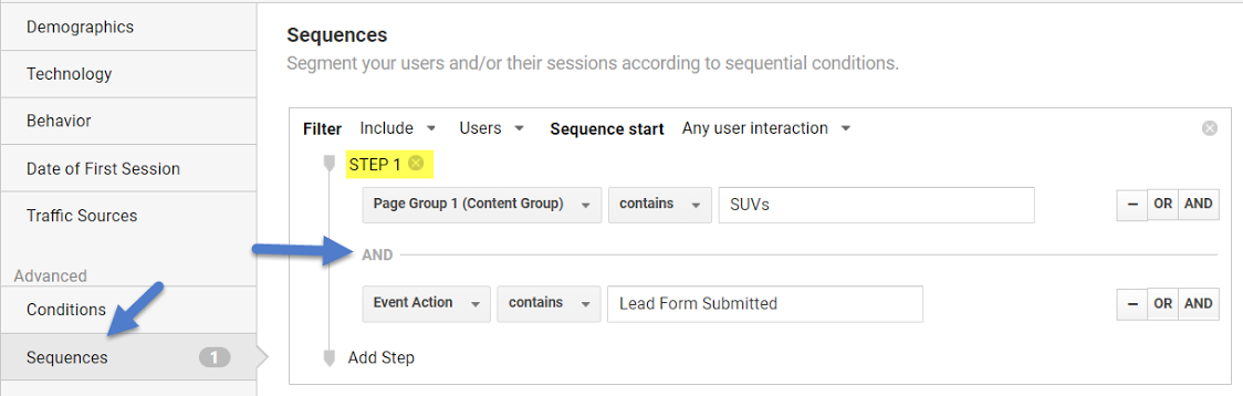Set up a sequential segment to remarket to these users.d 4 1