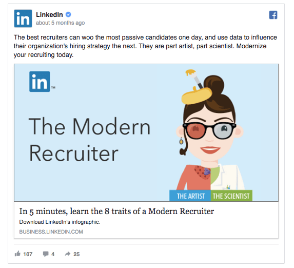 The second version of the ad on LinkedIn